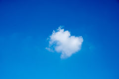 Blue sky with white cloud. For background Royalty Free Stock Photo