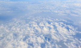 Blue sky and white cloud background Royalty Free Stock Photo