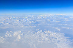 Blue sky and white cloud background Royalty Free Stock Images