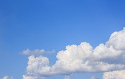 Blue sky with white cloud background Royalty Free Stock Image