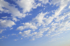 Blue sky and white cloud Stock Images