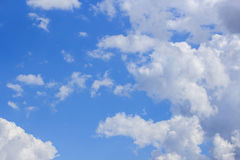 Blue sky with white cloud background for any design Stock Photo