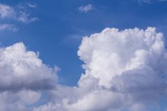 Blue sky and white cloud for background. In Myanmar stock images