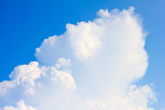 Blue sky and white cloud. Backgruond Royalty Free Stock Image