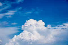 Blue sky and white cloud Royalty Free Stock Photo