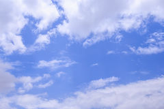 Blue sky and white cloud. Beautiful bright blue sky with white cloud Royalty Free Stock Photo