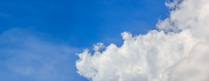 Blue sky and white cloud. Beautiful bright blue sky with white cloud Stock Photos