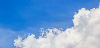 Blue sky and white cloud. Beautiful bright blue sky with white cloud Royalty Free Stock Image