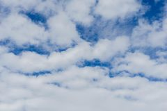 Blue Sky and White Cloud for Business Enthusiasm royalty free stock images