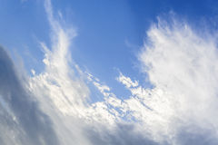 Blue sky and white cloud in day Royalty Free Stock Images