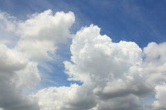 Blue sky and white cloud Stock Photography
