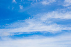 Blue sky and white cloud. Empty blue sky and white cloud Royalty Free Stock Photos