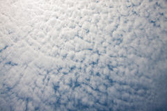 The blue sky with white cloud in good weather day Stock Image