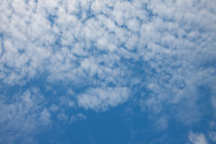The blue sky with white cloud in good weather day Royalty Free Stock Photo