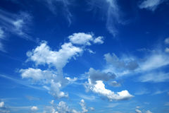 Blue Sky and White Cloud Royalty Free Stock Images
