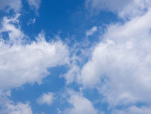 Blue sky with white cloud Royalty Free Stock Images