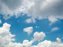 Blue Sky with white cloud. After raining Stock Photos