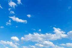 Blue sky. Blue sky with white cloud in rainy season Stock Image