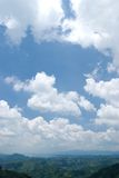 Blue sky with white cloud in sunny day Royalty Free Stock Photography