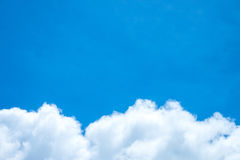 Blue sky and white cloud. Sunny day. Cumulus cloud.  stock images