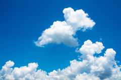 Blue sky and white cloud. Sunny day. Stock Photo