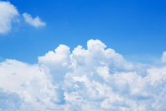 Blue sky and white cloud Stock Photos