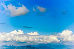Blue sky and white cloud Stock Image
