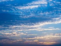 Blue sky with white cloud twilight time Royalty Free Stock Images