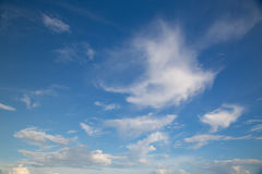 Blue sky and white cloud. Stock Photos