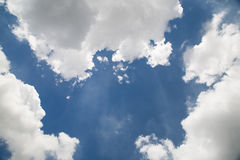 Blue sky and white cloud. Royalty Free Stock Photography