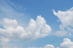 Blue sky, white clouds. Blue sky is covered by white clouds Royalty Free Stock Photos