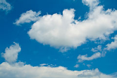 Blue sky with white clouds Stock Image