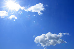 Blue sky and white clouds. The blue sky and white clouds Stock Image