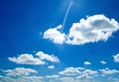 Blue sky and white clouds. Beautiful blue sky and white clouds royalty free stock images
