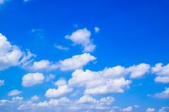 Blue sky and white clouds 171022 0063 Royalty Free Stock Photo