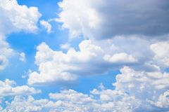 Blue sky with white clouds 180927 0015 stock photography