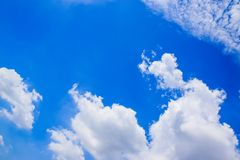 Blue sky with White Clouds 180930 1 royalty free stock photo