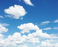 Blue sky white clouds Royalty Free Stock Photography