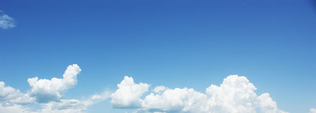 Blue sky white clouds. Royalty Free Stock Photos