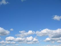 Blue sky, white clouds Royalty Free Stock Photo
