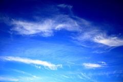 Blue sky white clouds. Blue sky with white clouds on a sunny day Stock Photography