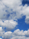 Blue sky with white clouds Royalty Free Stock Image