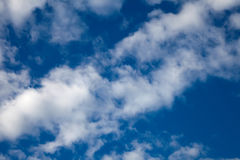 Blue sky with white clouds Stock Photos