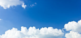 Blue sky and white clouds. Royalty Free Stock Images