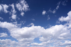 Blue sky, white clouds Stock Images