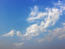 Blue sky with white clouds. Royalty Free Stock Images
