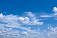 Blue Sky with White Clouds Royalty Free Stock Photo