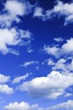 Blue sky with white clouds Royalty Free Stock Images
