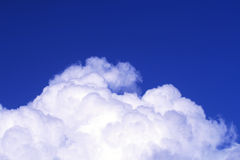 The blue sky and  white clouds. Royalty Free Stock Photo