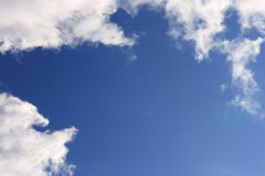 Blue sky and white clouds. The blue sky and white clouds Royalty Free Stock Photography